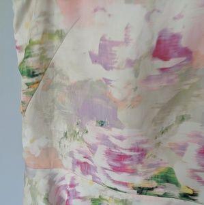 H&M Tops - H&M Pastel Watercolor Peplum Tank Blouse